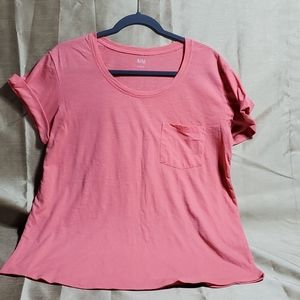 a.n.a., soft, pink t-shirt folded short sleeves